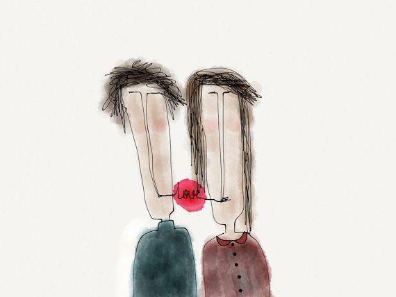 Instant Download Printable Art Illustration  LOVE by ekinakis