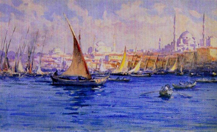 Fausto Zonaro - A View Of Bosphorus