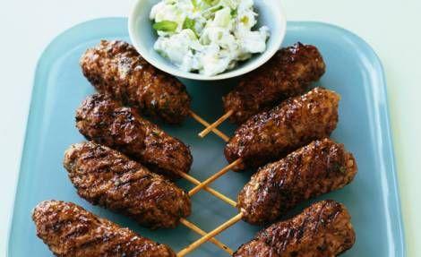 Minced lamb rolls with tzatziki recipe : Australia Day BBQ