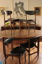 Retro Vintage 60s Chatley Danish Dining Chairs X6