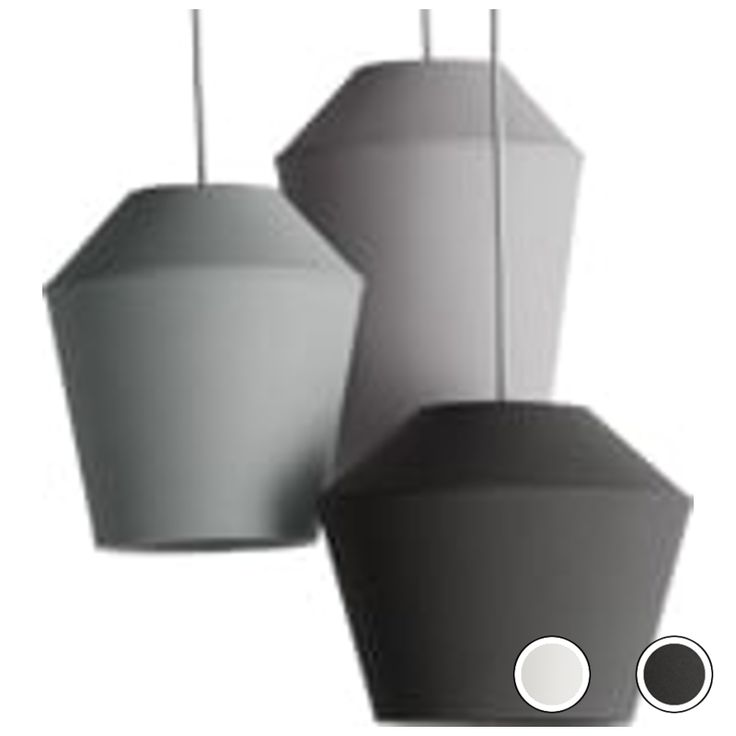 Tuli Cluster Pendant Light, Tonal Grey from Made.com. Express delivery. These cotton pendants in 2-tone grey by Made Studio evoke understanded minim..
