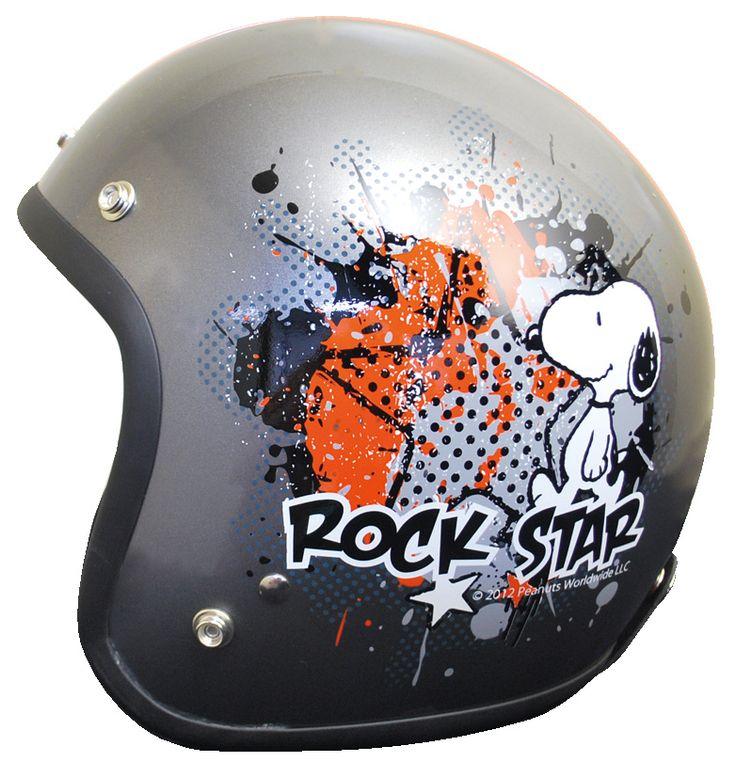 スヌーピー ヘルメット ジェットヘルメット ロックスター/チタン バイク用/SNOOPY/ヘルメット【楽天市場】
