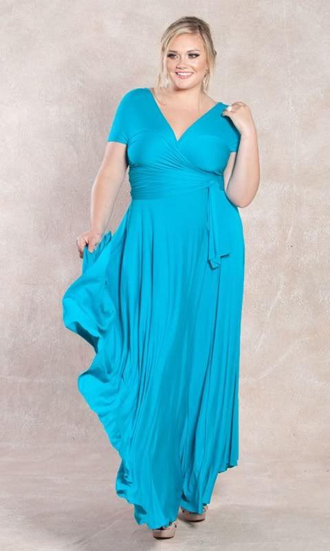 ea3883fc683cb SWAK Anastasia Maxi Marine Aqua Blue · Trendy Plus Size DressesPlus Size  MaxiCruise ...