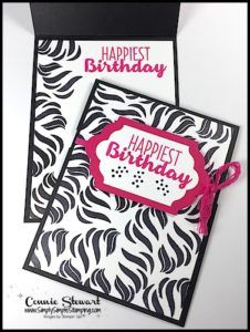 Out of the Box - Zebra Print Birthday Card - Video | Simply Simple Stamping