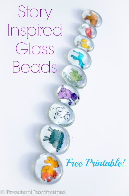 Brown Bear Story Inspired Glass Beads. This is a story extension activity. Help children retell the story Brown Bear, Brown Bear - Preschool Inspirations