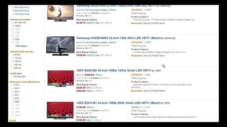 Cheapest TVs Online - Best Cheap TVs / Televisions Deals For Sale To Buy...