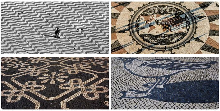 Wandel met ons mee langs de mooiste stoepen van Lissabon! - via Saudades de Portugal 10.04.2015 | Als je in Portugal bent geweest zul je vast gezien hebben dat de stoepen vaak prachtig zijn bedekt met mozaïeken. Zwarte en witte golven, voorwerpen, symbolen, patronen en dieren sieren de stoepen waar de Portugezen zich over verplaatsen.