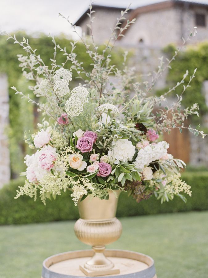 Tuscan-inspired centerpiece: http://www.stylemepretty.com/little-black-book-blog/2016/05/03/inspired-by-tuscany-this-couple-recreated-that-magic-for-their-big-day/   Photography: Coco Tran - http://www.cocotran.com/