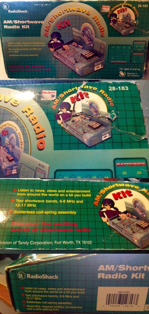 1970-1989 1185: Vtg 90 S Radio Shack Tandy Am Shortwave Radio Kit Nib Nos Never Used Clean! -> BUY IT NOW ONLY: $40 on eBay!