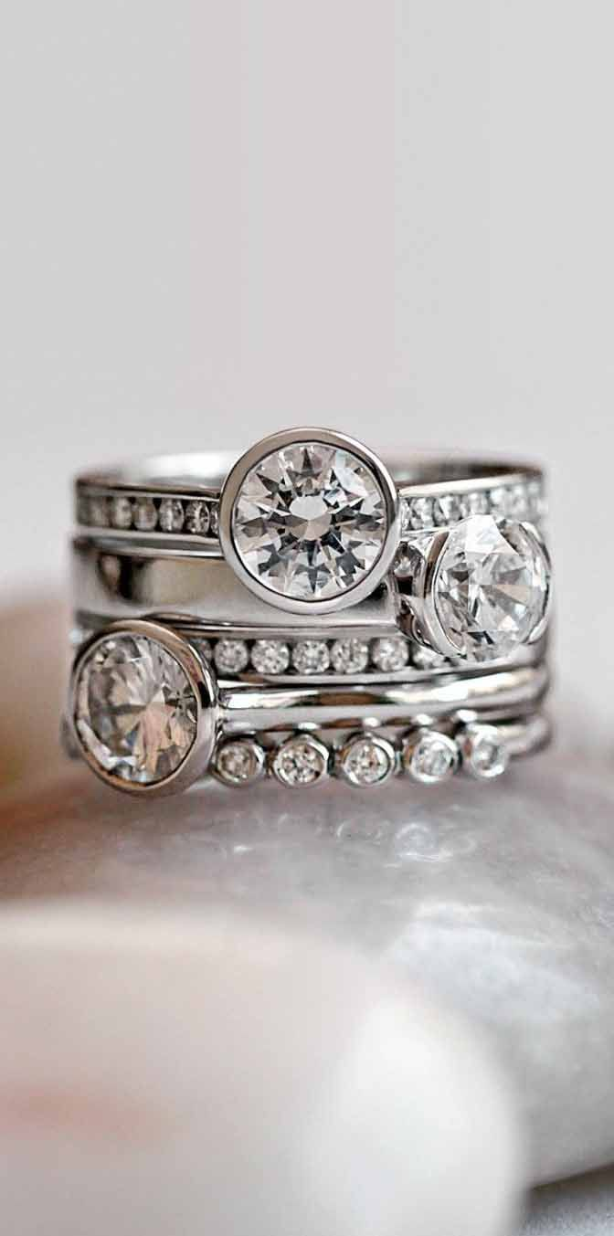 Bezel and Channel set Diamonds - safest way to wear diamonds!