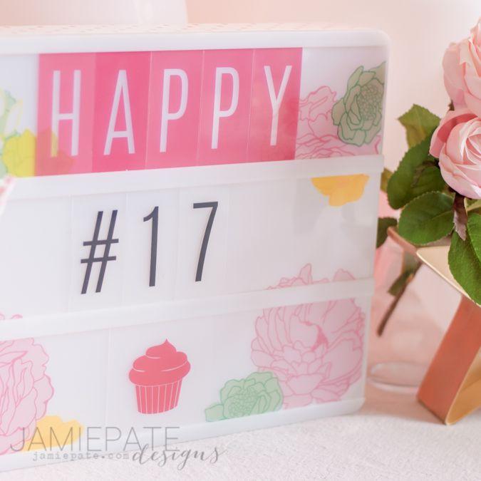 How to Happy Birthday with the Heidi Swapp Lightbox | @jamiepate for @heidiswapp