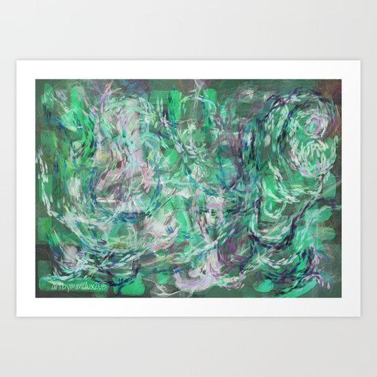 MERMAIDS SONG digital abstract painting