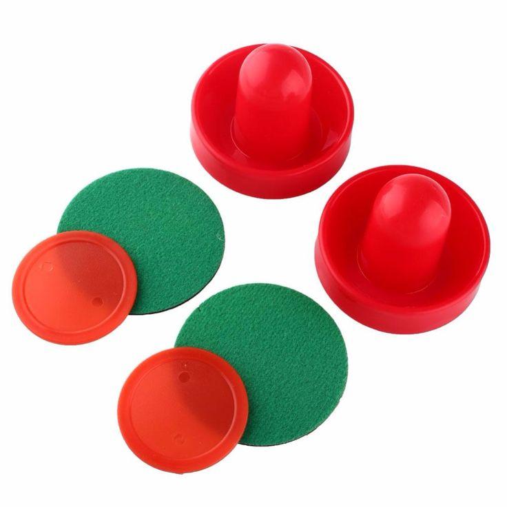 テーブルアイスホッケープラスチック赤エアホッケーアクセサリーゲームテーブルおもちゃスポーツ楽しいクラウン子供ギフトエアホッケーアイスパック