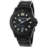 Stuhrling Original Men's 161.33511 Water Sports 'Regatta' Automatic Black Ion-Plated Dive Watch (Watch)