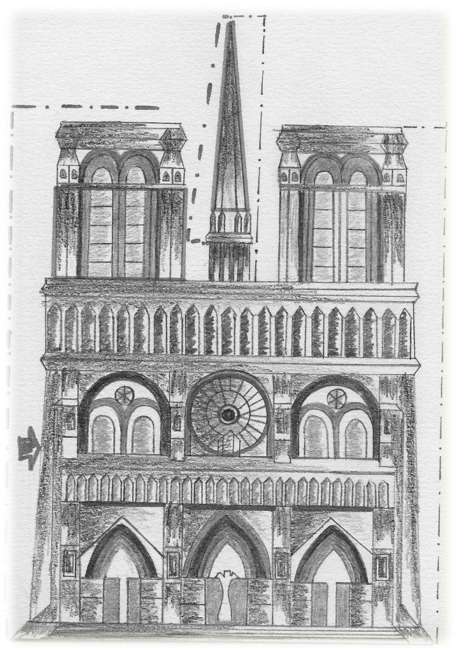 ''Catedral de Notre Dame'' Tecnica:Dibujo en lapiz grafito