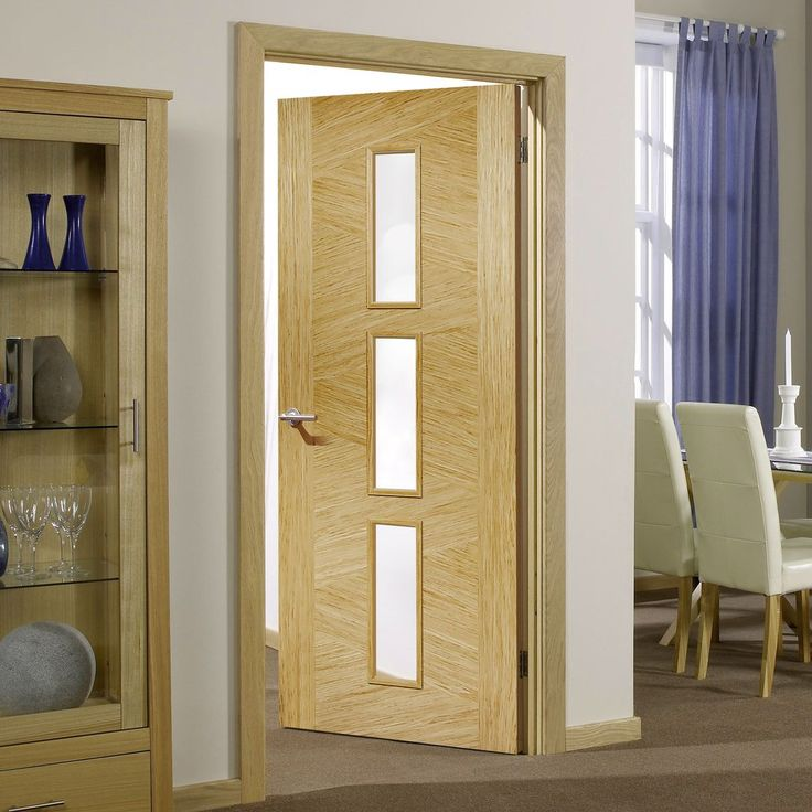Pane Mahogany Door With Bevelled Clear Safety Glass