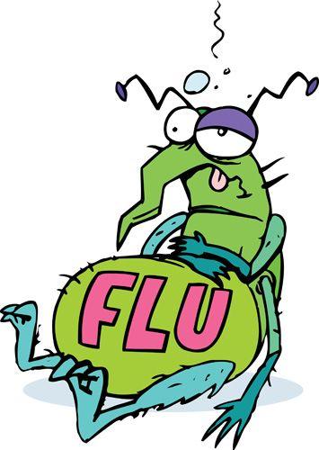 Flu Bug Cartoons Clipart - Free Clipart