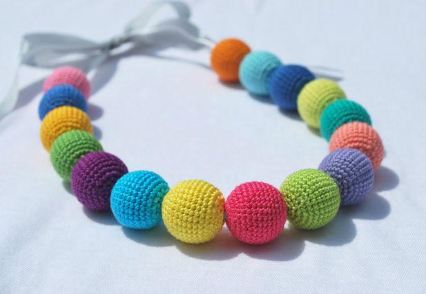 COLOURS OF LIFE :-) szydełkowe korale hand made - Dotka9 - Naszyjniki