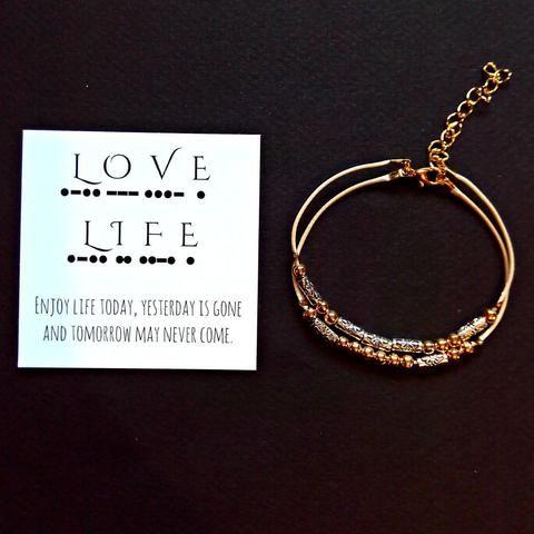 Love Life Morse Code Bracelet