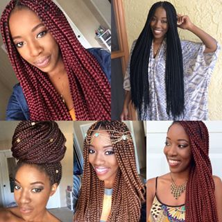 1000 ideas about colored box braids on pinterest 4c