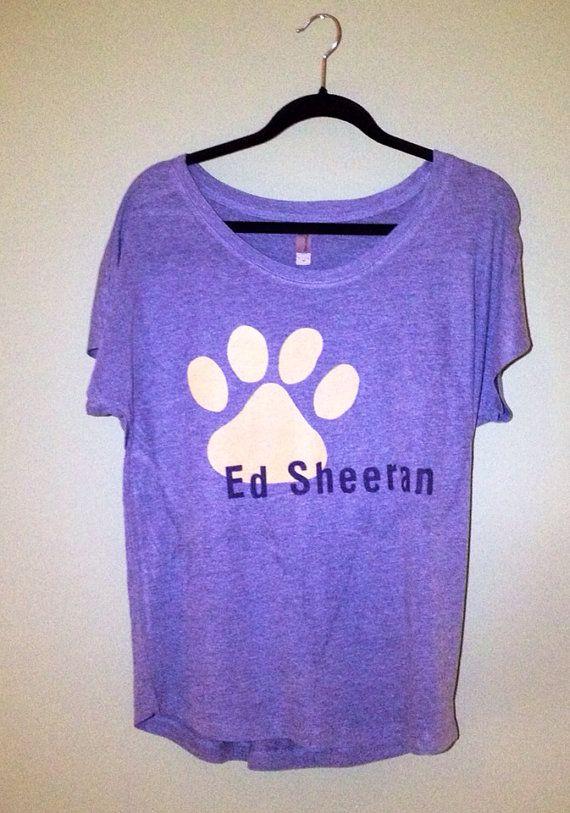 Ed Sheeran Paw Print Flowy Style Women's Dark Gray by BestFanTees, $18.00