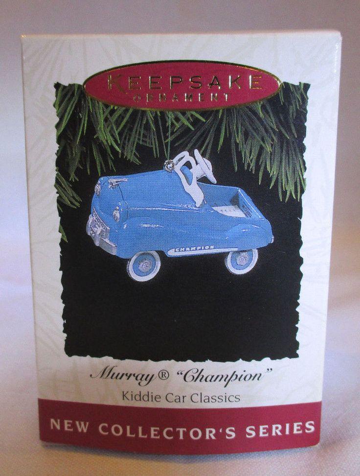 New Vintage Hallmark Tree Ornament 1994 Kiddie Car Classics Murray Champion Car