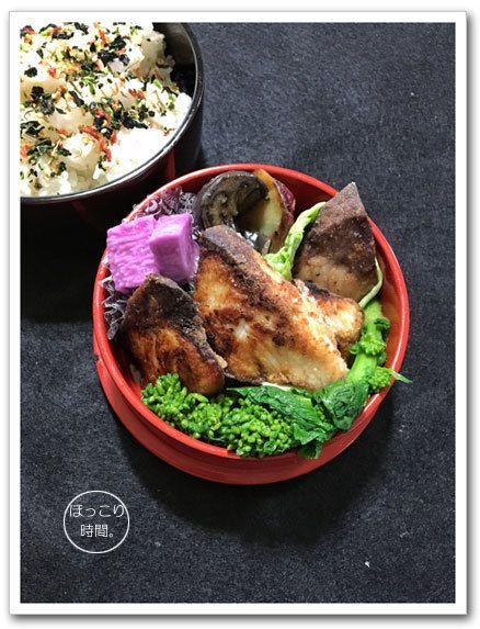 ✻ブリの塩麹竜田揚げ✻菜の花辛子和え✻大学芋✻ナスの中華風炒め✻長芋の梅しそ漬け