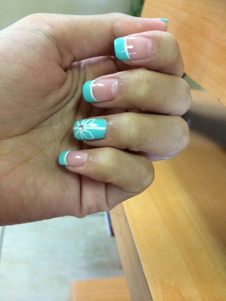 Best 25 tiffany blue nails ideas on pinterest tiffany nails tiffany blue themed nails with gel polish by teresa yelp prinsesfo Gallery