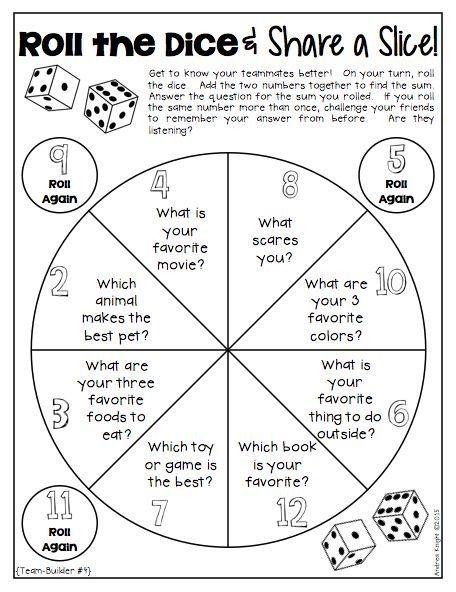 "This TEAMBUILDING activity from ""Dice Discussions"" is perfect for back-to-school or any time of the year when building the classroom community is needed. 32 pages, $ #backtoschool #icebreakers:"