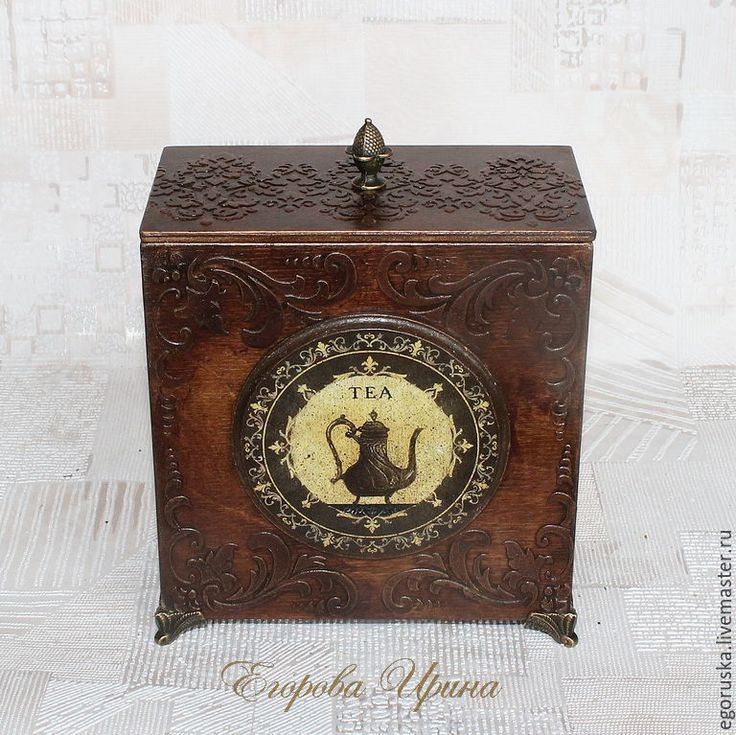 """Купить Короб """"Tea time"""" - коричневый, шоколадный, изысканный подарок, короб для хранения, короб, коробочка"""