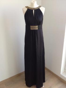 HALLHUBER EVENING Abendkleid * 100% Seide Ballkleid schwarz gold in Puls