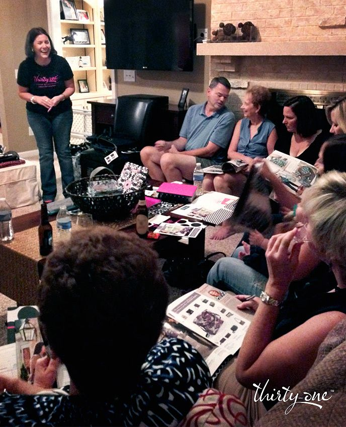 It is so much fun having a Thirty-One party and getting your family and friends together!