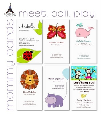 Mommy Cards / Play Date Cards / Calling Cards