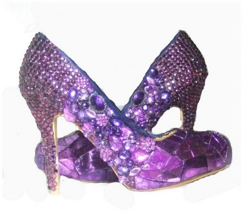 A Simply Purple Wedding Shoes Awesome