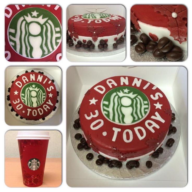 ... Cake  KJs Crazy Creations  Pinterest  Christmas cakes, Starbucks