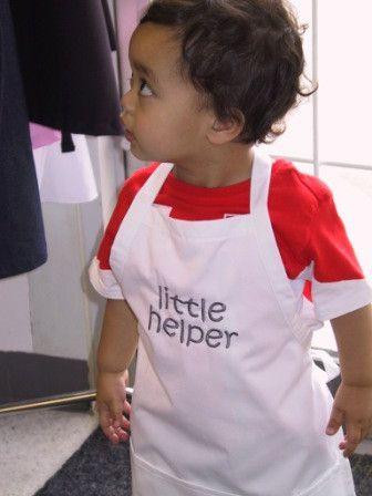 little helper kid apron