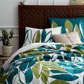 West elm bedding - jungle leaf print