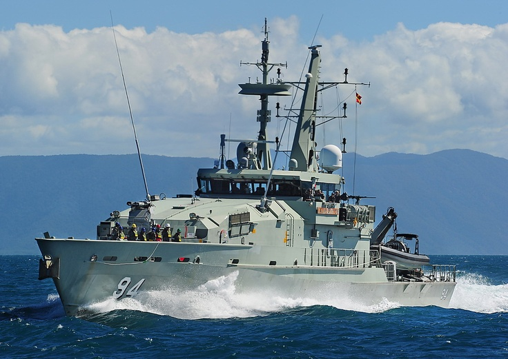 HMAS Launceston (ACPB 94) is an Armidale-class patrol boat of the Royal Australian Navy (RAN). She is based in Cairns and performs border protection and fisheries protection patrols. Launceston was used for pick-up filming during the creation of the second season of Australian drama series Sea Patrol in 2008. The footage was conflated with the main footage of sister ship Broome to create the fictional HMAS Hammersley, the ship the series is set on.