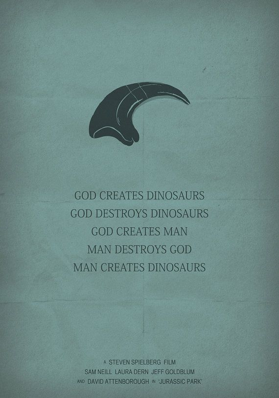 Jurassic Park poster minimalist movie poster by OurBrokenHouse