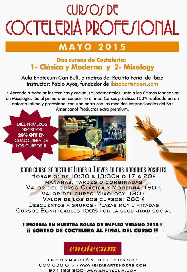 Cocktails in Ibiza: Ibizabartenders desde 2004. Alta Coctelería.: Curso COCTELERIA EN IBIZA Mayo 2015!