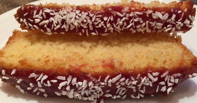 I love a traditional jam and coconut sponge. It's a really simple sponge cake, but with really soft buttery sponge, fruity strawberry jam and dessicated coconut.