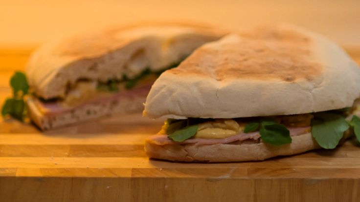 Ham and Pease Pudding Stottie - Geordie Chef