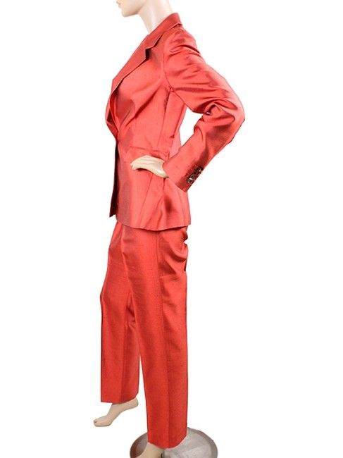 74e566789 Red - Silk Shantung Pant Suit in 2019 | Office/Professional Clothes ...