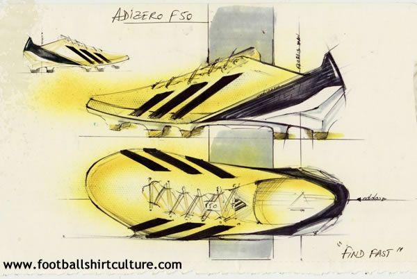 Adidas 2012 adiZero F50 Football Boots // so familiar sketching