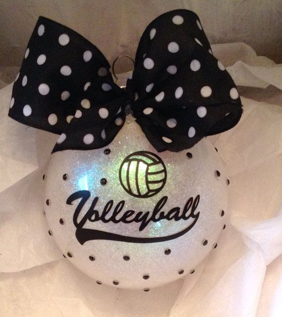 Volleyball ornament Christmas ornament by MommasCreations4you