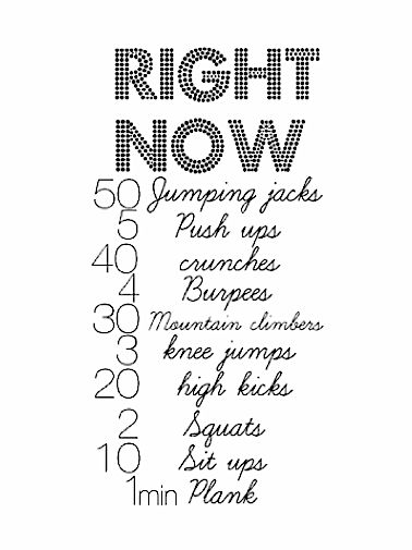 Quick Workout - maybe, maybe not (and what's a burpee??)