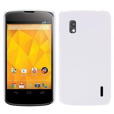 LG Nexus 4 hard case, cover, hoesje, frontje, wit