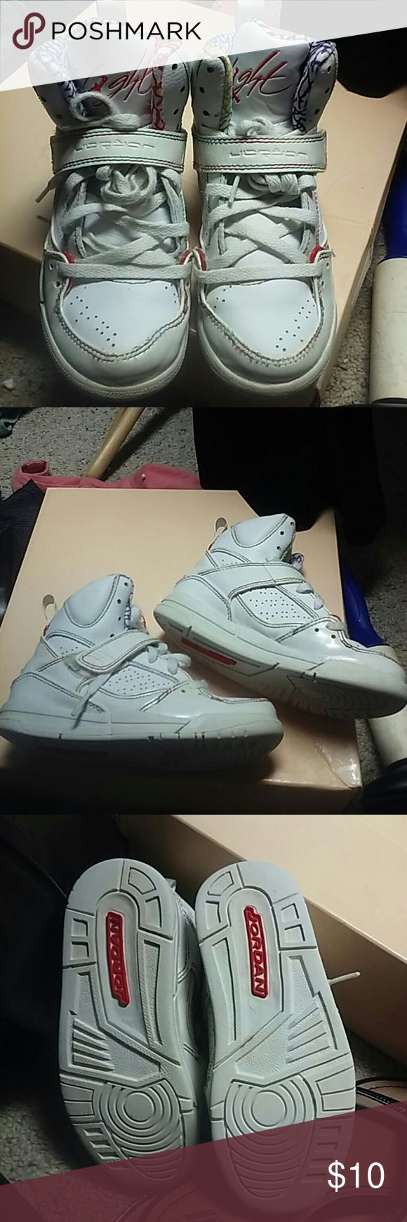 Girls Jordans Flight shoes These are is good condition some wear but lots of life left in these Jordan Shoes Sneakers