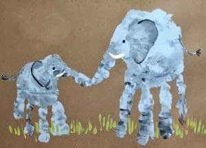 Elephant Handprint Art...how sweet is this?!
