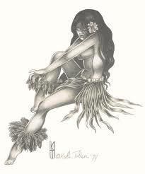 hula girl tattoo - Google Search